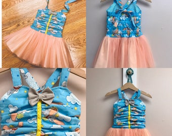 Private listing for Lindsay Senft Dumbo the Flying Elephant Tutu Dress Size 3 and Size 6
