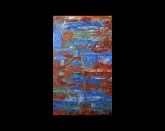 """Unique Copper Art by Atlanta Metal Artist, Huge 36"""" x 24"""", Contemporary, Modern,Trending Now,Original Abstract, Etsy Paintings"""