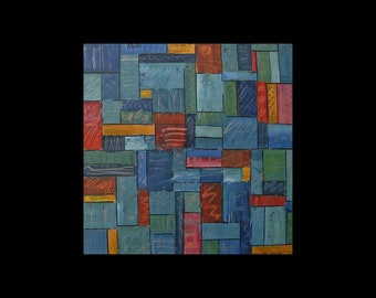 Original Art, Copper Painting, Geometric, Modern, Contemporary, Karina Keri-Matuszak, Trending Now, Unique Home Decor, Cool, Atlanta
