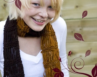 Knitting PATTERN knittles A Walk in the Woods Scarf - Level Easy