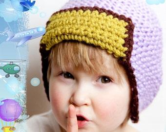 3 in 1 PATTERN Knittles Aviator Hat 1T-4T