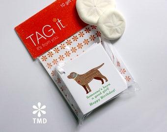 Chocolate Labrador Gift Tags