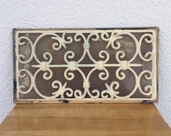 Architectural Salvage Window Cast Wrought Iron Panel