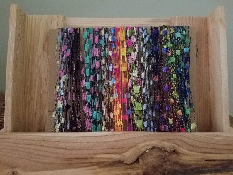 Fiber Art Bundles Multi-Color Ladder Yarn