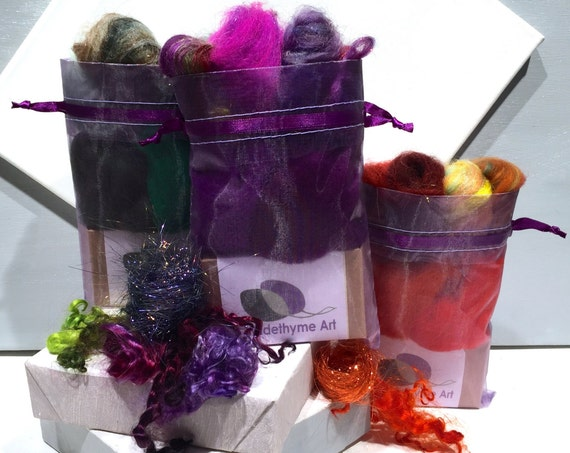 Thyme Soap Felting Kit, Felted Soap Kit, DIY Felt Craft Kit, Wet Felting, Make felted soap, Beginner Felting, color choices, Organic Soap