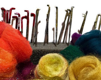 Needle Felting Needles, color coded, #36, #38, #40, felting needles, barbed needles, wool felting tool, needle felting tool refill needles