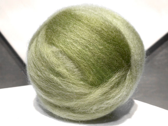 Pear Green wool roving, Spinning, Needle Felting Spinning wool, spring green, grey yellow green, apple green