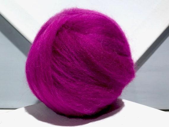 Wilde Berry Wool Roving, Needle Felting, Spinning Fiber, hot pink violet Magenta wool roving, berry roving, Saori weaving