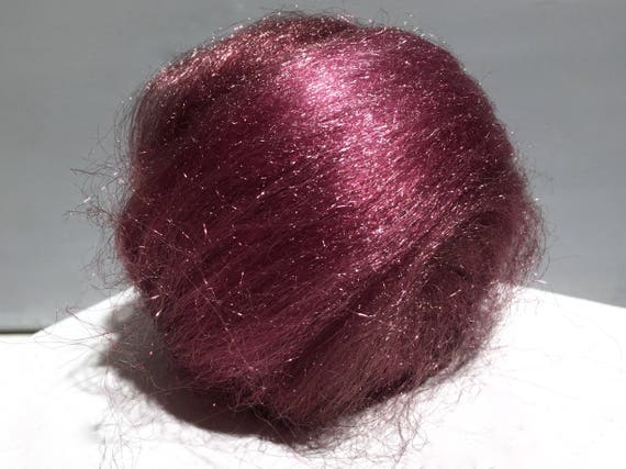 Mauve Firestar, Needle Felting, Spinning Fiber, roving, .5 oz, grape, antique violet, plum, mauve similar to Icicle Top