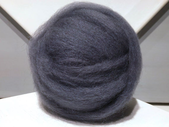 Steel Blue wool roving, dark blue roving, Needle felting, Wet Felting, Spinning fiber, slate blue, blue grey, dusk blue, gray blue roving