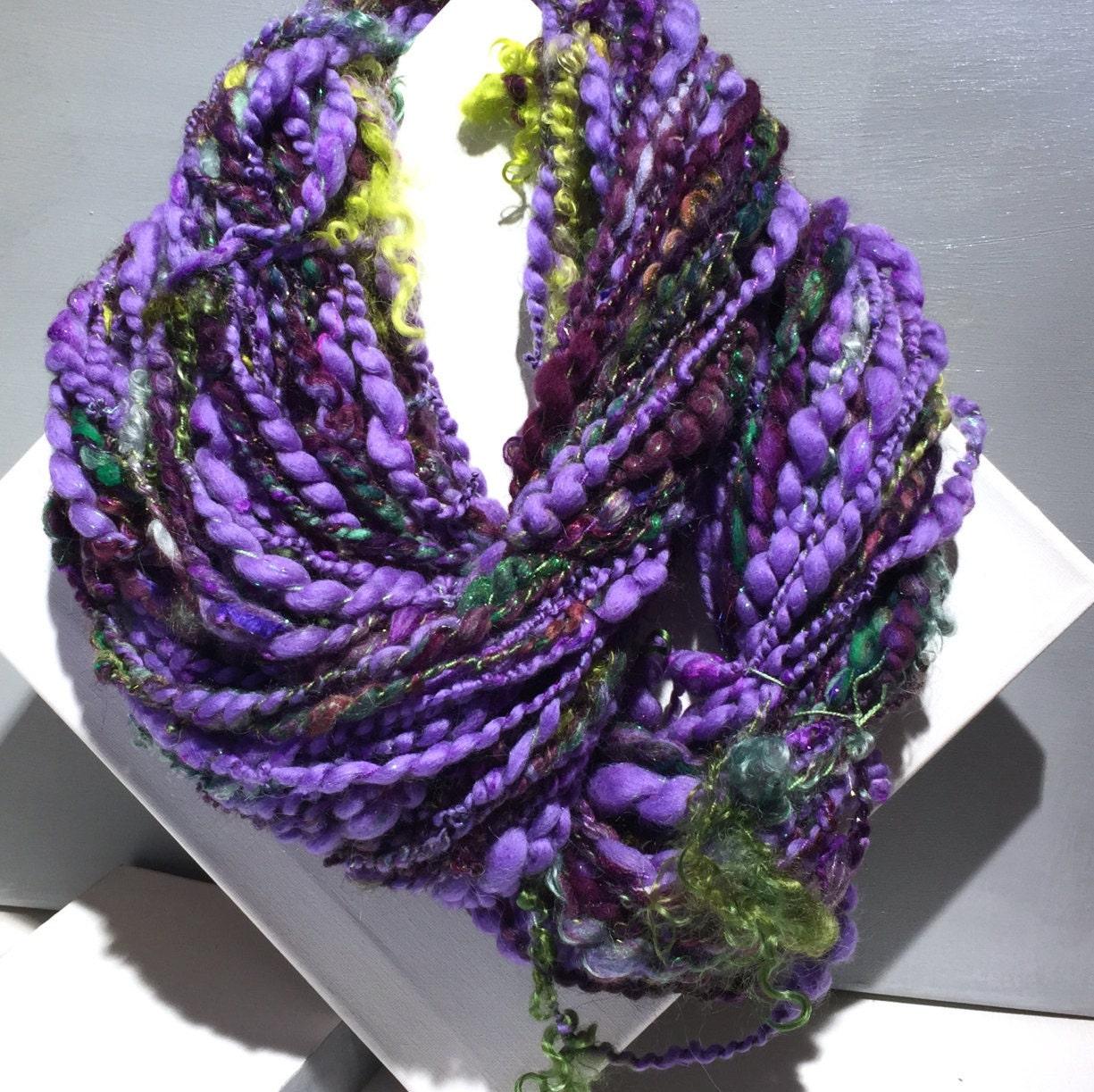 handspun art yarn club wilde garden yarn club thick and thin super bulky art yarn free ship us big knitting crochet saori weaving yarn - Wilde Garden