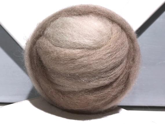 Mushroom Grey Wool Roving, Needle Felting, Spinning Fiber, grey beige tan greige neutral, Saori weaving