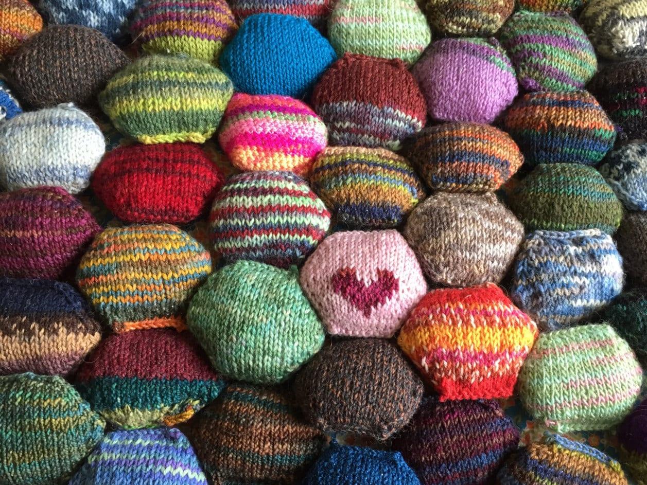 Beekeeper Quilt Starter Kit Craft Kit Diy Gift Mini Skeins Knit Quilt