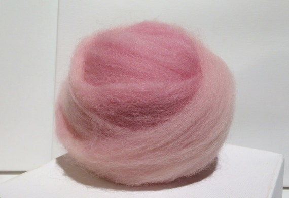 Cotton Candy Pink wool roving, Needle Felting wool, Pink Spinning Fiber, pink wool roving, light pink roving