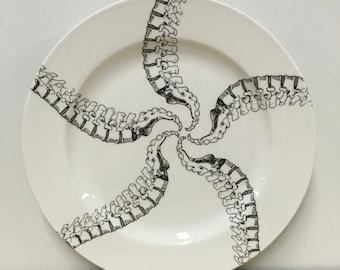 10.5 inch Spinal Column Pinwheel Pattern Dinner Plate ON SALE