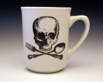 skull and cross utensils classic Mug