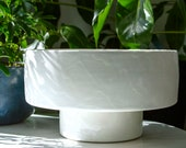 Large White Planter with Drainage Dish Stand