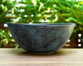 Modern Ceramic Serving Bowl in Blue and Black