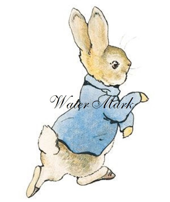 Peter Rabbit Beatrix Potter Fabric Block Bunnies Rabbit Altered Art