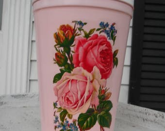 One vintage  sap container*Perfect for waste basket*Storage*Staging bath or bedroom*Vase for fresh or silk flowers