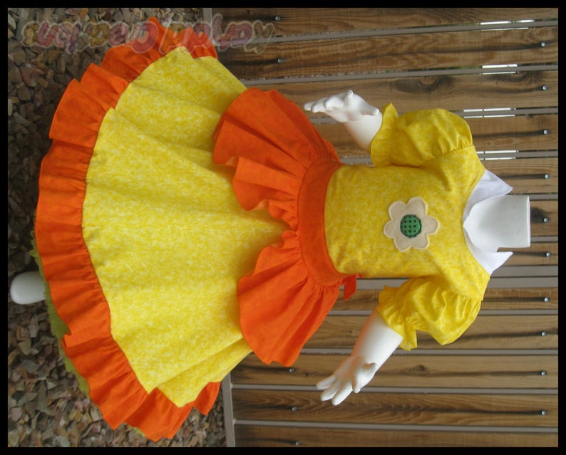 Princess Daisy Inspired Custom Princess Dress Costume  Cotton image 0