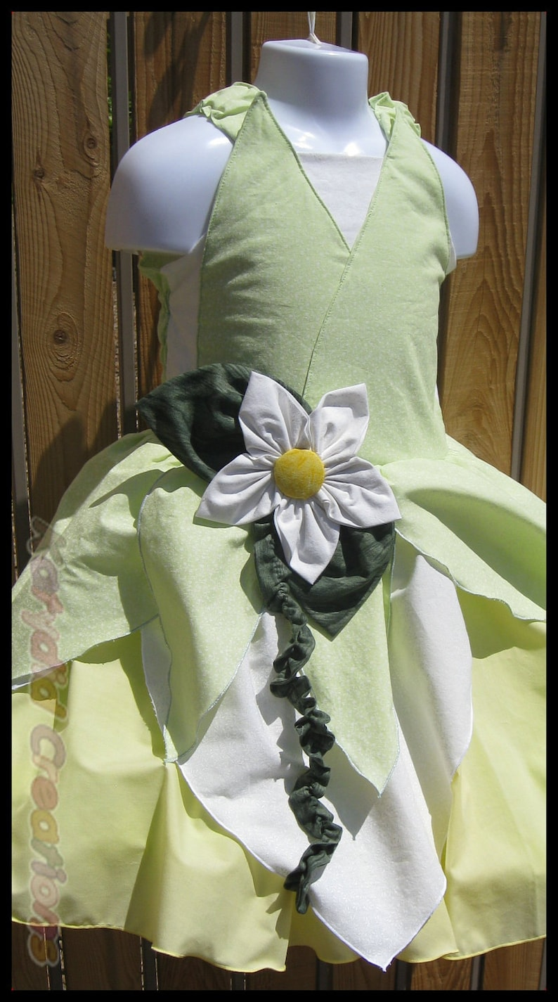 Water Lily Princess Dress Costume inspired by Tiana in image 0