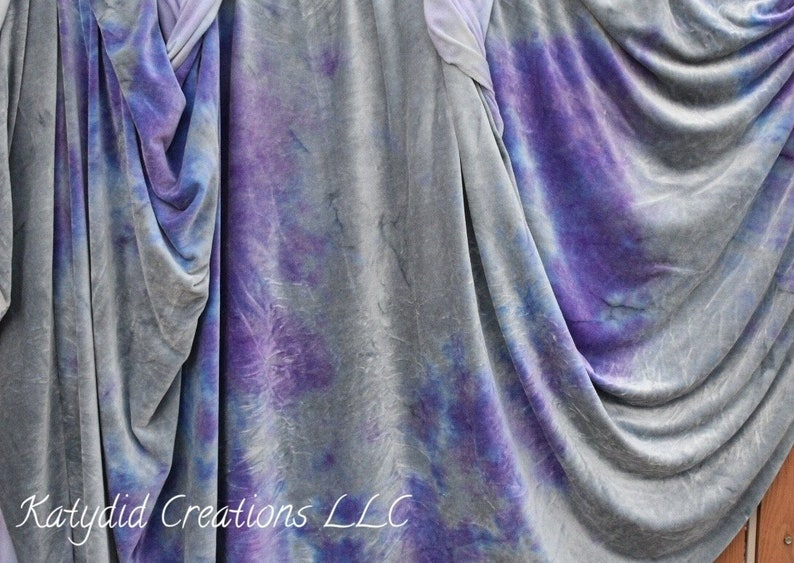 Lilac Shadows  Hand Dyed Organic Bamboo Velour Blanket   image 0