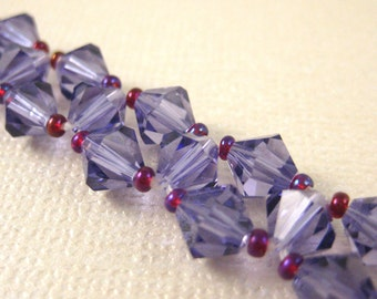 Purple (with pink accent) Crystal Sparkle Bracelet