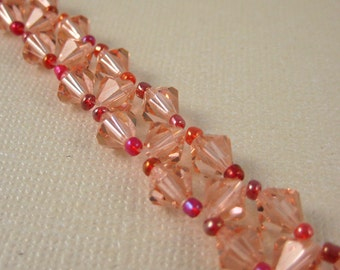 Peach Crystal Sparkle Bracelet