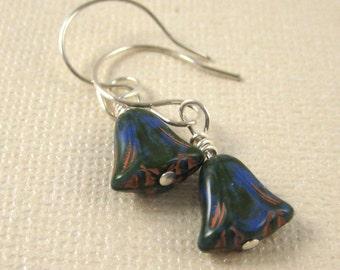 Multicolor Italian Glass Drop Earrings