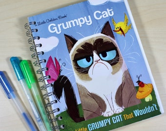 Grumpy Cat Upcycled Blank Journal