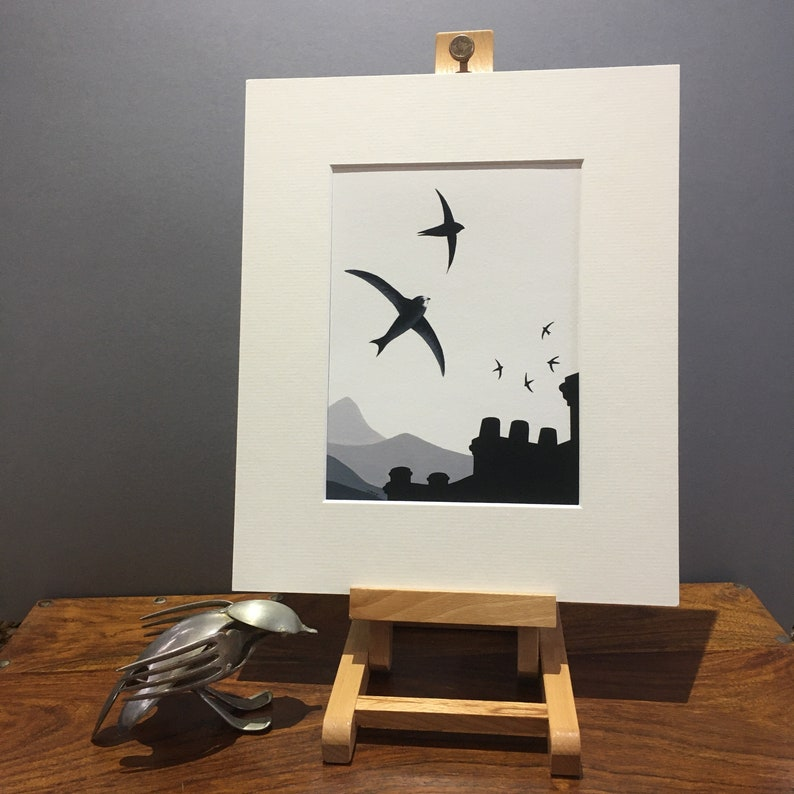 Common Swift 'Skychasers' fine art print limited image 0