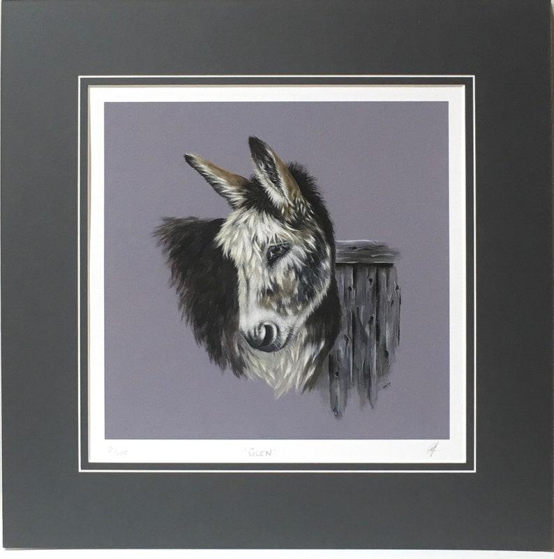 Donkey fine art print.  Limited edition print image 0