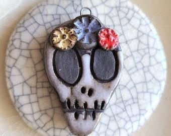 Dia De Los Muertos / Ceramic Pendant