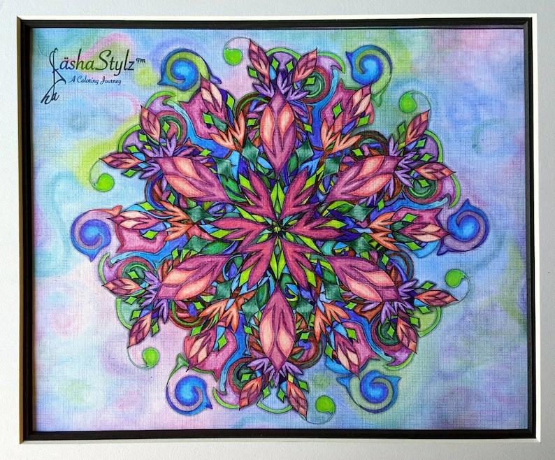 frühling blühen zum ausdrucken mandala malvorlagen seite