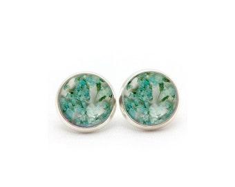 Stud Post Earrings, Gift for Women, Gift for Her, Real Flower Jewelry, Dangle Earrings, Real Flower Jewelry, Resin Flower Earrings