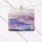 mousepad / Mouse Pad / Mat - Watercolor Purple Violet Landscape