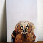 Little Baby Owl Art Postcard