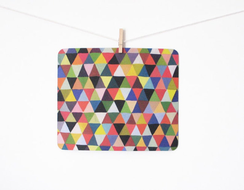 mousepad / Mouse Pad / Mat  Black Geometry Triangles image 0