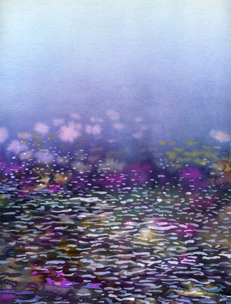 Ombre Water  archival 11 x 14 inch watercolor print image 0