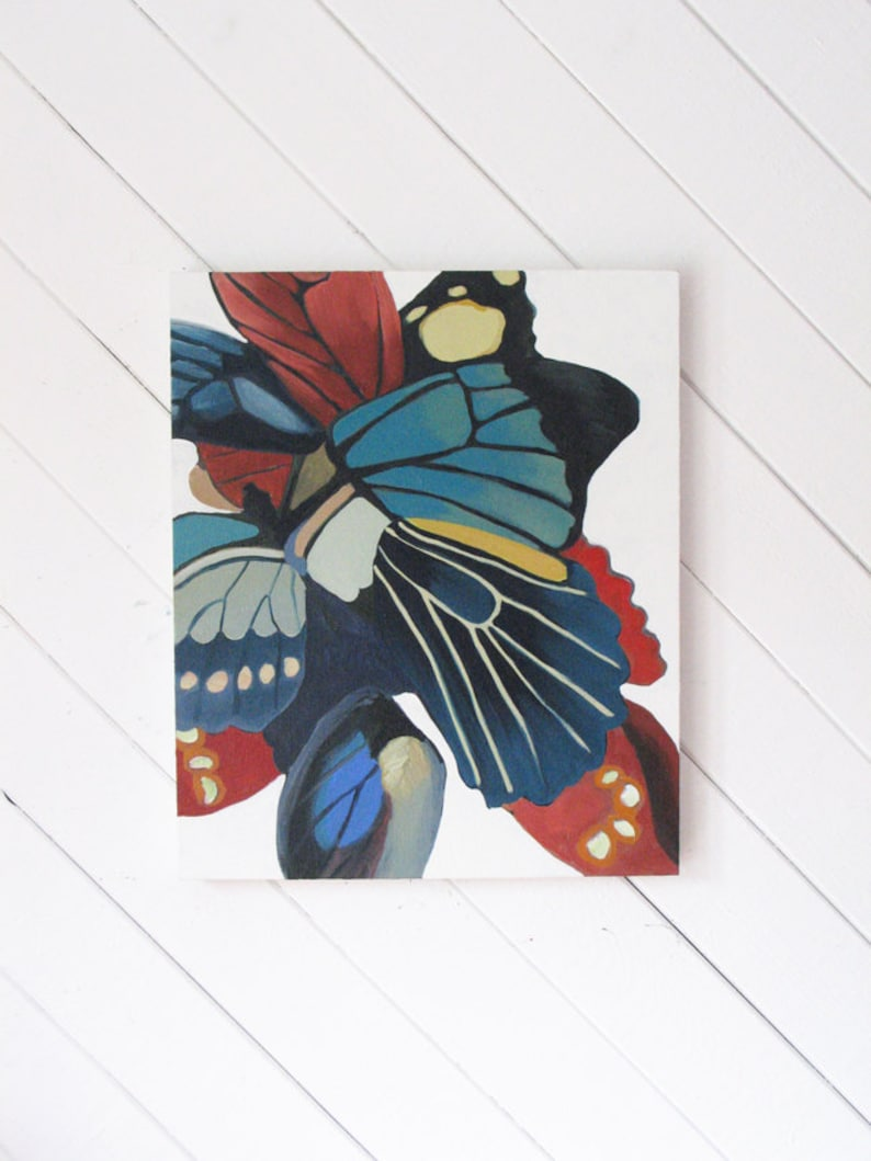 Metamorphosis  original oil painting on canvas butterfly image 0