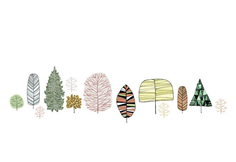 Forest Trees Art Print 19 x 13 inches Poster image 0