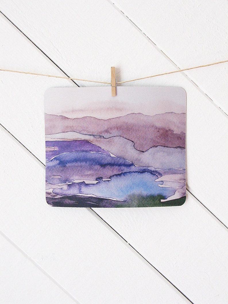 mousepad / Mouse Pad / Mat  Watercolor Purple Violet image 0