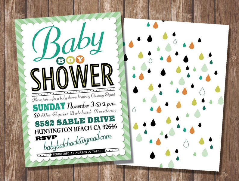 Baby Shower Boy Party Invitation / Customizable / Printable image 0