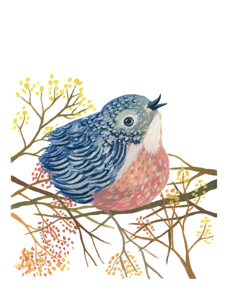 Spring Bird art print  archival fine art image 0