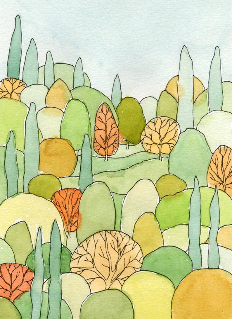 Perfect Landscape Art Print  from original watercolor image 0