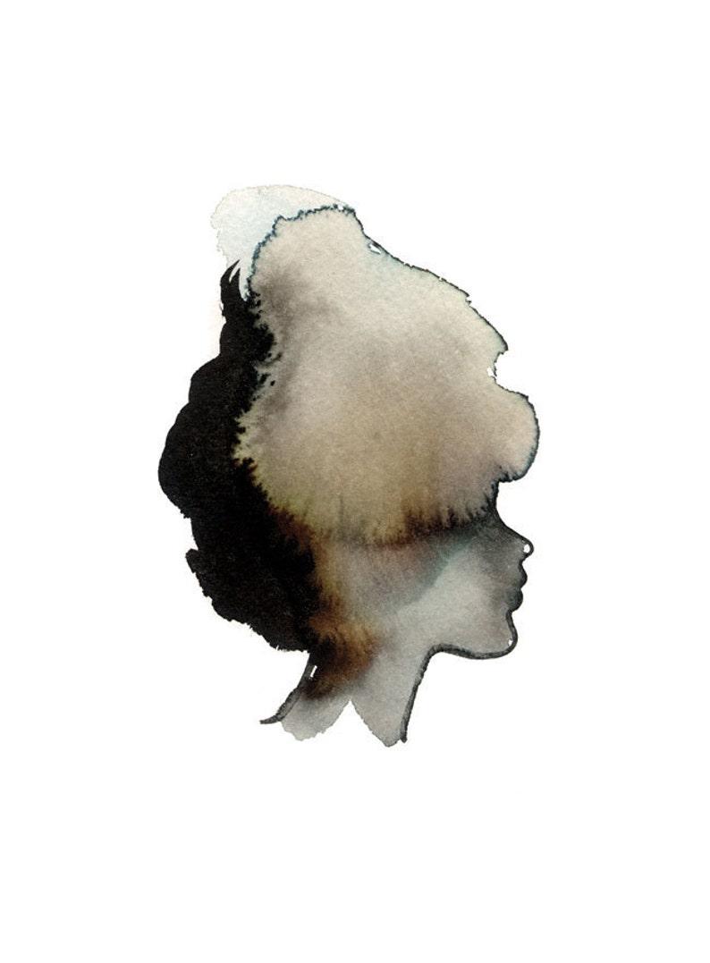 Lady Silhouette Art Print 5 x 7 image 0