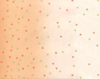 Ombre Confetti Metallic - Coral: sku 10807-221M cotton quilting fabric by V and Co. for Moda Fabrics