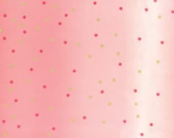 Ombre Confetti Metallic - Popsicle Pink: sku 10807-226M cotton quilting fabric by V and Co. for Moda Fabrics