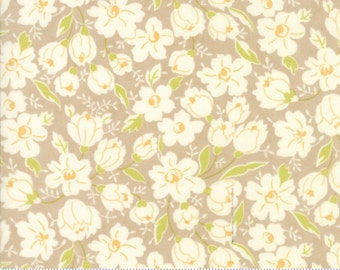 SALE - Coney Island - Buttercups in Boardwalk Tan: sku 20285-18 cotton quilting fabric by Fig Tree and Co. for Moda Fabrics - 1 yard